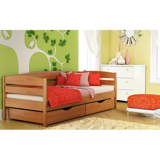 Дерев'яне ліжко Estella НОТА ПЛЮС щит