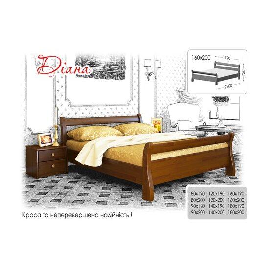 Ліжко Estella ДІАНА бук щит