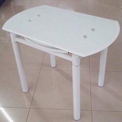 Стол обеденный DST-041 1000*600(+400)*760 белый